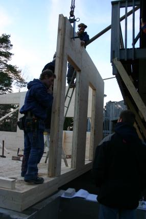 Dörröppning mot befintligt hus