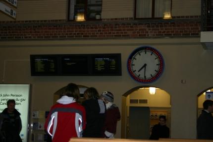 Tågbyte i Skövde