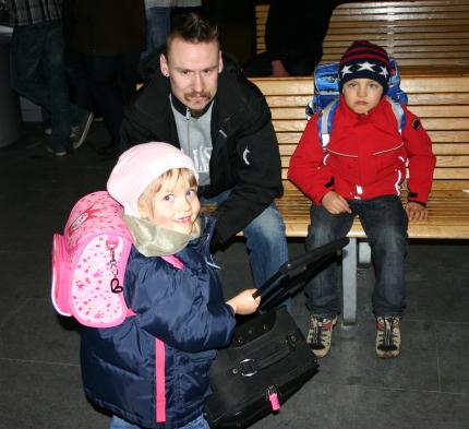 På Falköpings station med morbror Tony