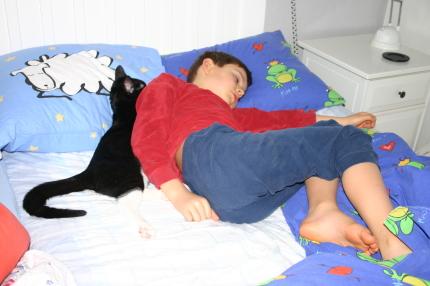 Tätt intill två sömntutor
